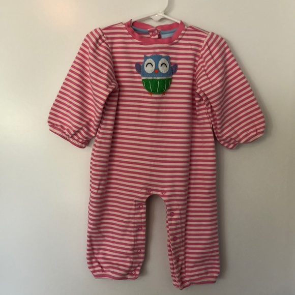 64 Off Bella Bliss One Pieces Baby Girl Pink Owl Playsuit Poshmark